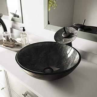 Vigo Vg07051 Gray Onyx Glass Vessel Bathroom Sink