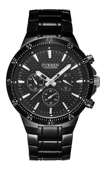 Relógio Preto Masculino Curren Orignal M8063 Promoção