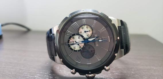 Relógio Masculino Seculus Analógico Com Cronógrafo E Calendá