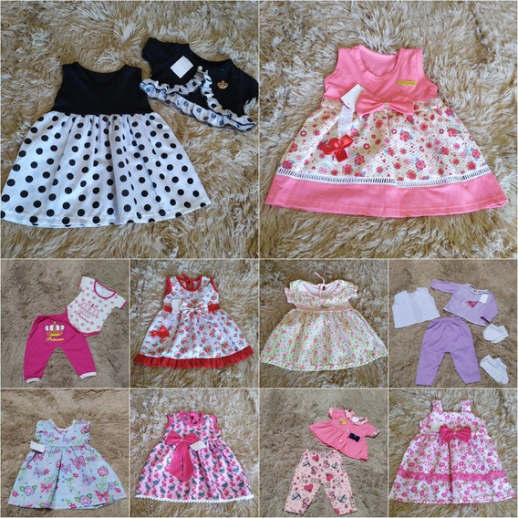 10 Roupinhas Roupas Vestido Bebê Recém Nascido Infantil