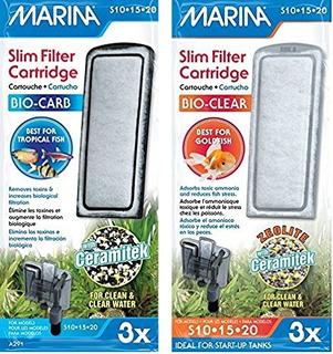 Marina (3 De Cada) Delgado Filtro De Carbón Plus Cerámica Ca