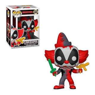 Muñeco Funko Pop Clown Deadpool Marvel 322 Original