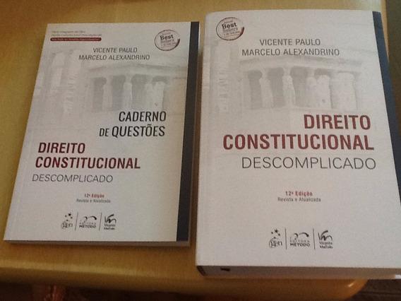 Direito Constitucional Com Caderno De Questões E Fretegrátis