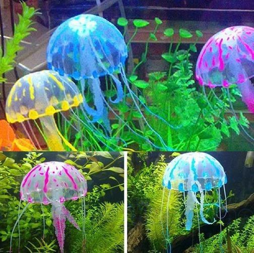 Ornamento De Aquário Água-viva Artificial-frete R$7,99