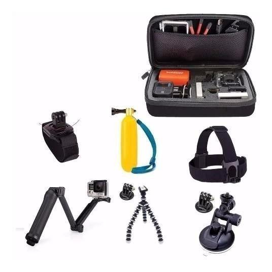 Kit Aventura Gopro Acessórios 2 3+ 4 5 6 7 Black Edition