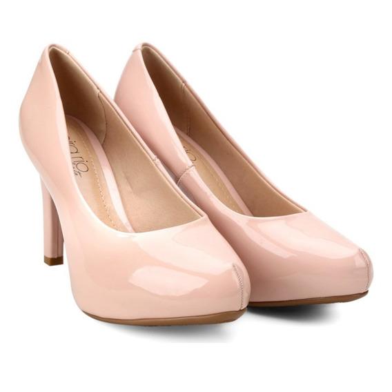 Sapato Feminino Meia Pata Verniz Beira Rio 4180.200 - Rosa