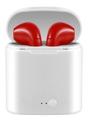 Fone De Ouvido Sem Fio Vermelho Tws I7s Bluetooth Stereo