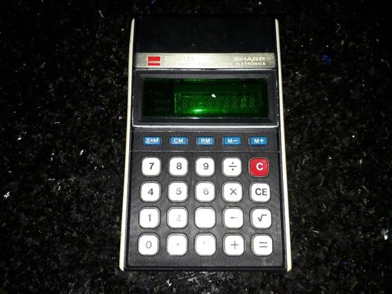 Calculadora Sharp El - 8131 Elsi Mate Funcionando Com Caixa