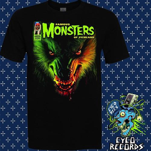 Imagen 1 de 3 de Famous Monsters Wolf - Peliculas De Culto - Polera- Cyco Rec