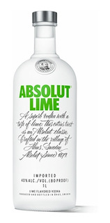Vodka Absolut Lime Importada De Suecia Envio Gratis Caba