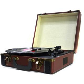 Tocadiscos Vinilo Vintage Bluetooth Portable Aux Winco W 407
