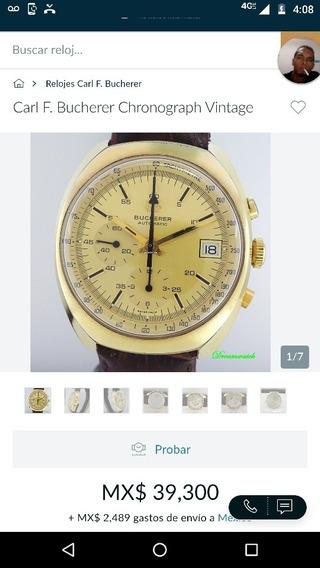Reloj Marca Carl F. Bucherer Modelo Cronógrafo 9803