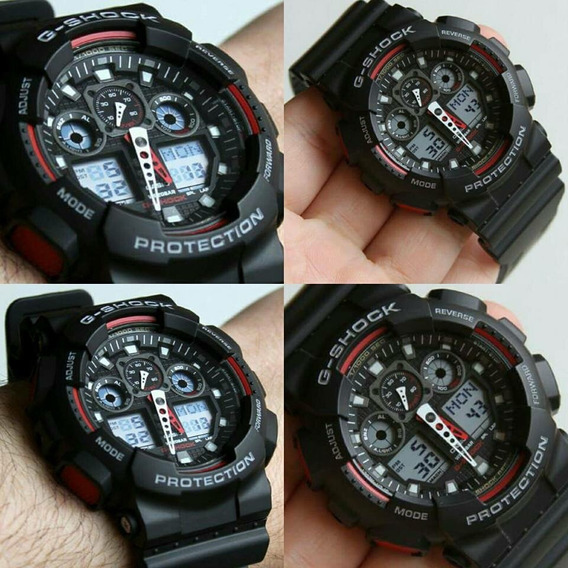 Reloj Casio G-shock Color Negro Mod Ga100-1a1