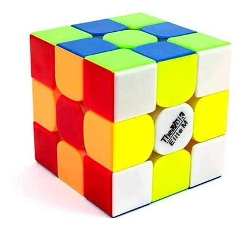 Imagem 1 de 6 de Cubo Mágico 3x3x3 Qiyi Valk 3 Elite M Magnético Colorido