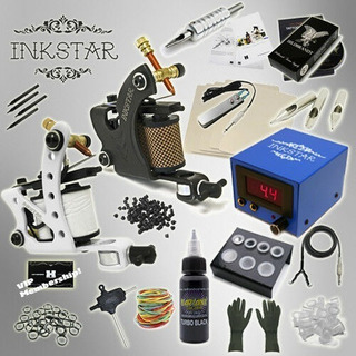 Kit Profesional Tatuaje Tattoo Tatuar 2 Maquinas Bifuncional