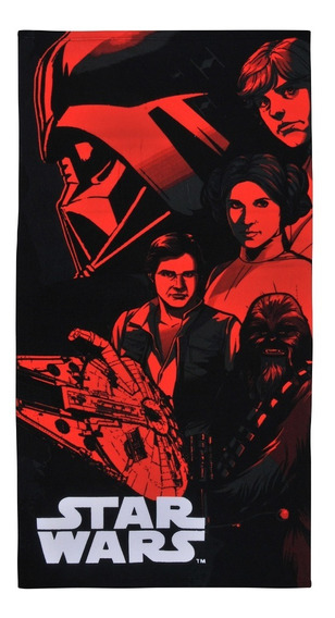 Toalla Playa Mf 70x140 Starwars Red, 814176