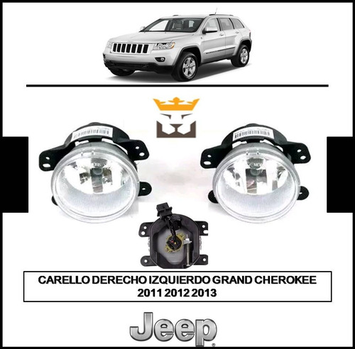 Carello Faro Luz Neblina Jeep Grand Cherokee 2011 2012 2013