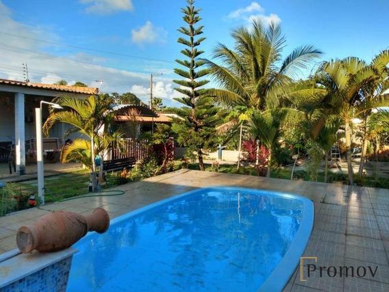 Execelente Casa Com 3/4 , Piscina Em Areia Branca - Ca0607
