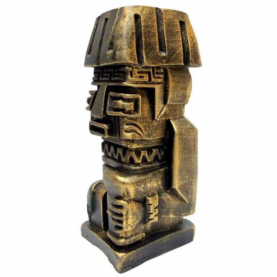 Totem Asteca Decoração Resina - Escultura - Inca