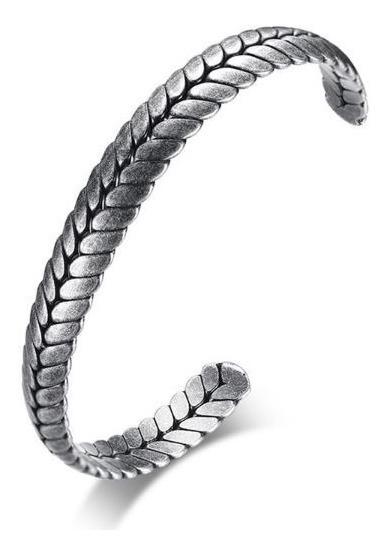 Pulseira Bracelete De Aço Masculino Prata Estilo Viking Antigo Mitologia Thor Ragnar