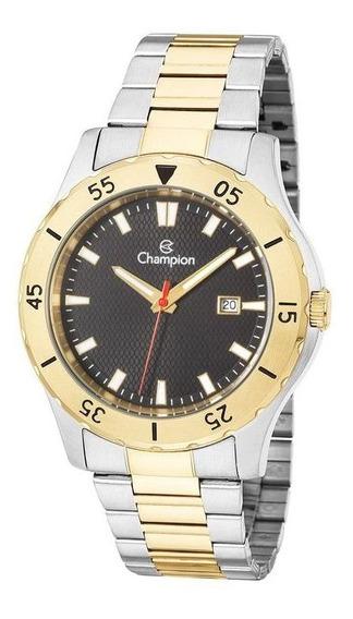 Relógio Champion Sport Masculino Prata/dourado Luxo Ca31337p