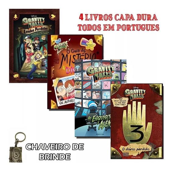 Coleção 4 Livros Capa Dura Gravity Falls / Dipper Promoção