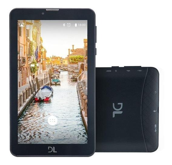Tablet Dl Tx384 Tela 7 8gb 2 Chips Celular 3g Whatsapp Nf