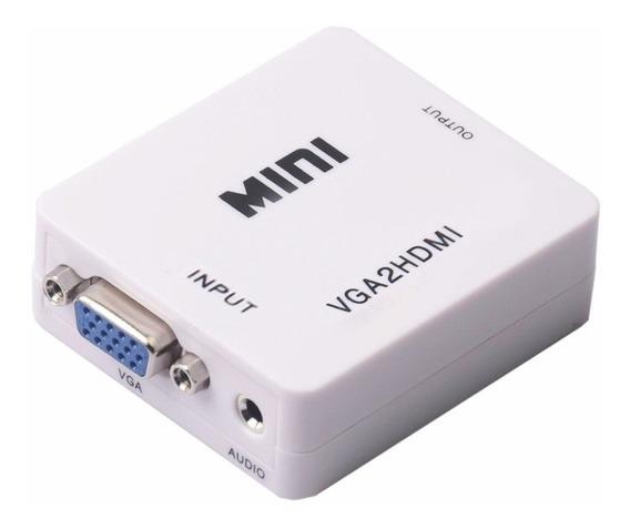 Conversor Vga A Hdmi Con Audio Tv Hd 1080p
