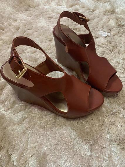 Zapato Para Dama Americana Eagle Café Us9, 26cm, Casi Nuevo