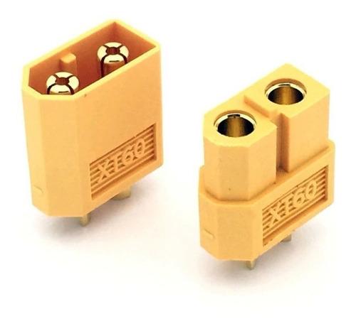 Kit Conector Xt60  Plug Baterias Aeromodelismo Macho Hembra