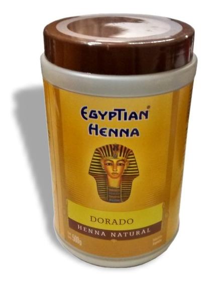Henna Egyptian En Polvo 500g - Tiziano- Dorado- Rubio Claro