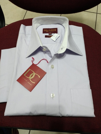 Camisa Mc N.3 Com Bolso 100% Algodão Ducotê Lavanda