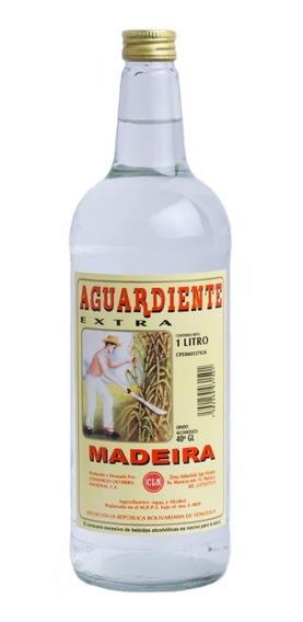 Aguardiente Extra Madeira Blanco Botella 1 Litro Cln