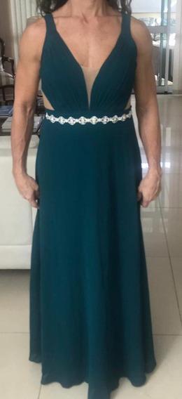 Vestido Longo Verde Musgo