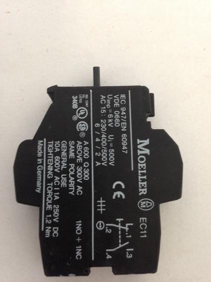 Bloco De Contato Auxiliar Ec11 (1no+1nc) - Klockner Moeller