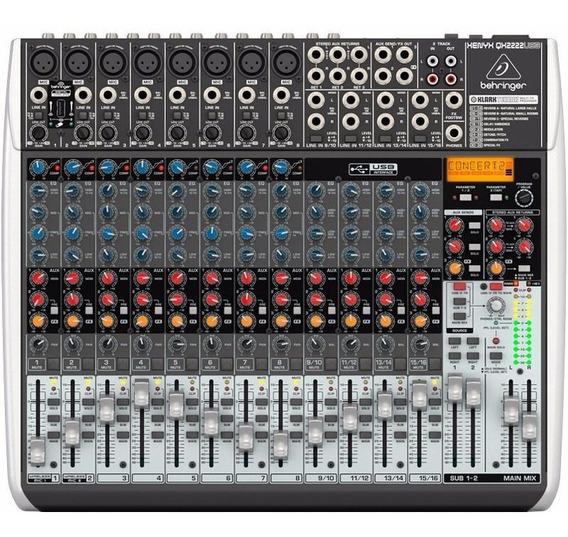 Mesa De Som Behringer Xenyx Qx2222 Mixer Usb 22 Canais