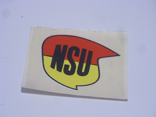 Antiguo Sticker Calco Autoadhesivo Moto Nsu