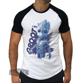 Camisetas Groot Guardiões Da Galaxia Camisas Heróis Filme Hq