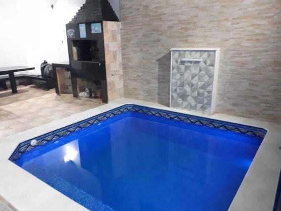 Casa Lado Praia 3 Dormitórios, Piscina Mongaguá Ref: 6888w