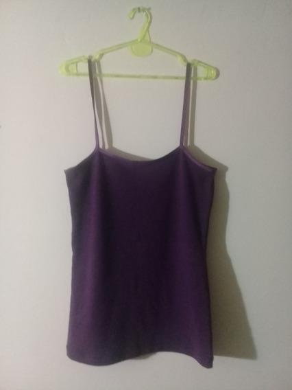 Musculosa Basica Violeta Remera