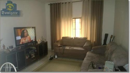 Sobrado Com 4 Dormitórios À Venda, 250 M² Por R$ 799.000,00 - Vila Alzira - Santo André/sp - So1285