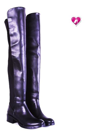 Bota Bucanera Montar Elastizada Cuero -lycra De Shoes Bayres