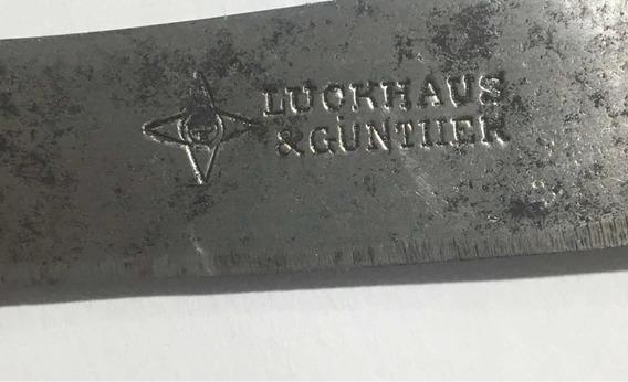 Antiguo Cuchillo Aleman Luckhaus & Gunther Cabo De Alpaca