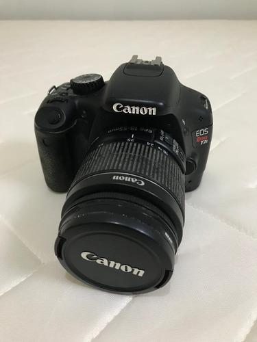 Câmera Canon T2i + Carregador + Cartão Sd 16gb + 02 Baterias