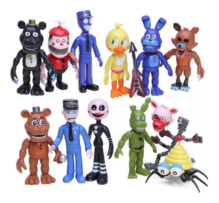 Set De 12 Figuras Juguetes Colección Five Nights At Freddy