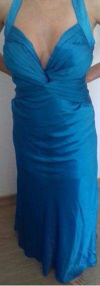 Vestido De Festa De Cetim - Traje A Rigor - Alta Costura
