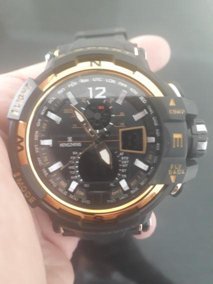 Relógioled Militar Esportivo Hz 490 Shock