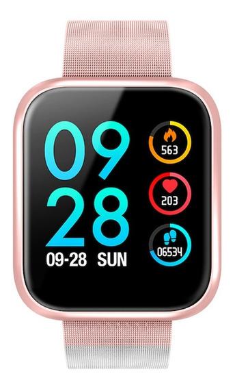 Reloj Smart Watch Bluetooth Deportivo Sumergible P70 Rosa Extensible Magnetico Y Correa De Regalo