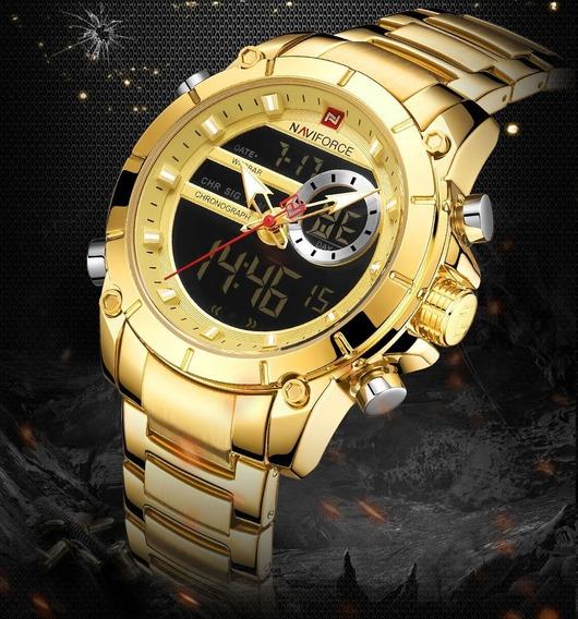 Relógio Masculino Naviforce 9163 Digital Analógico Barato