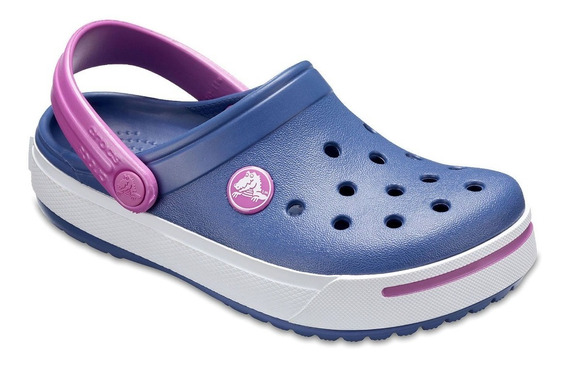 Crocs Crocband Il Kids Azul Marinho & Roxo + Brinde Pin Led